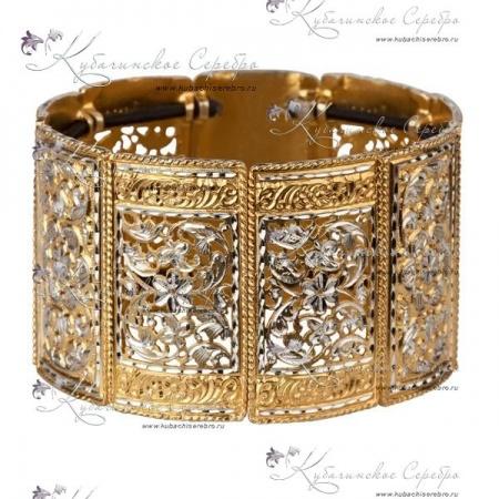 Кубачинские браслеты из золота